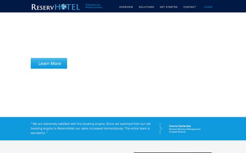 Screenshot of Home Page reservhotel.com - ReservHotel | Simplified hospitality solutions on a central platform - captured Sept. 30, 2018