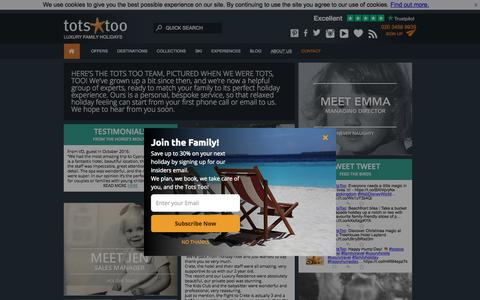 Screenshot of About Page totstoo.com - Tots Too - Luxury Family Holidays - ATOL & ABTA Registered - captured Sept. 23, 2018