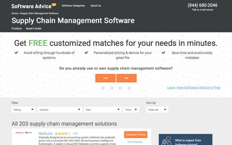 Top Supply Chain Management Software - 2017 Reviews