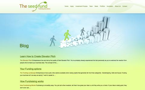Screenshot of Blog theseedfund.vc - Blog | The Seed Fund - captured Oct. 9, 2014