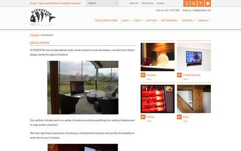 Screenshot of Developers Page dizzyfish.net - Developers - captured Nov. 1, 2014