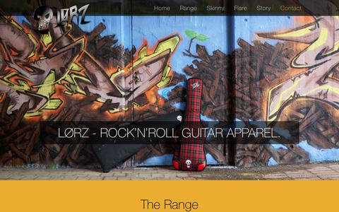 Screenshot of Home Page lorz.co - Lorz | Rock'n'Roll Guitar Apparel - captured Feb. 1, 2016