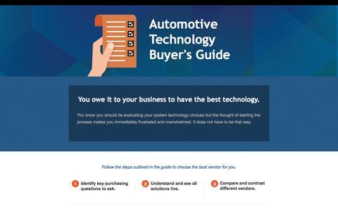 Screenshot of Landing Page reyrey.com - Automotive Technology Buyer's Guide - captured Jan. 3, 2017