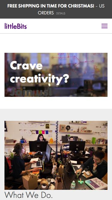 Screenshot of Jobs Page  littlebits.cc - careers
