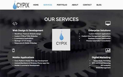 Screenshot of Services Page cypixtech.com - Services   Cypix Technologies - captured Nov. 2, 2014