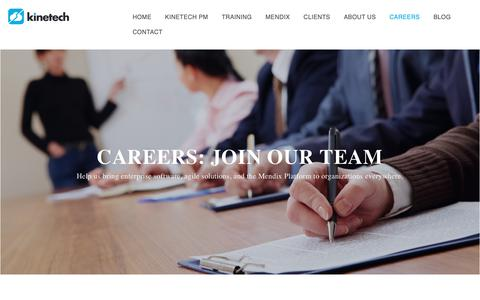 Screenshot of Jobs Page kinetechcloud.com - Careers - captured Nov. 15, 2018