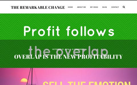 Screenshot of Blog theremarkablechange.co - The Remarkable Change Blog | The Remarkable Change - captured Nov. 5, 2014