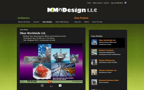 Screenshot of Case Studies Page mtmdesignllc.com - MtM Design Architecture Case Study of Jordans Furniture - captured Sept. 30, 2014