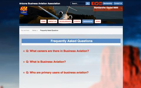 Screenshot of FAQ Page azbaa.org - Frequently Asked Questions | Resources AZBAA - captured Oct. 4, 2014