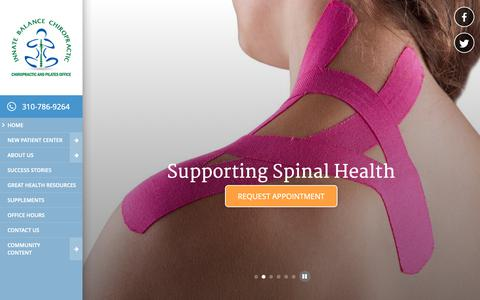 Screenshot of Home Page drcobbdc.com - Dr. Matthew Cobb Chiropractor in Los Angeles County, Beverly Hills, and West Hollywood, Chiropractor office in Los Angeles, weekend, open Sundays, 90069 - captured Nov. 14, 2018