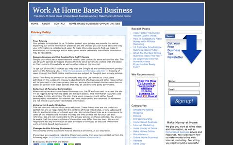 Screenshot of Privacy Page work-at-home-based-business.com - Privacy Policy - captured March 31, 2017