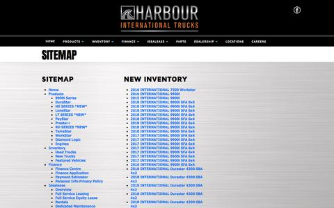 Screenshot of Site Map Page harbourint.ca - Harbour International Trucks   Inventory for sale in Langley, BC V1M 0B8 - captured July 16, 2017