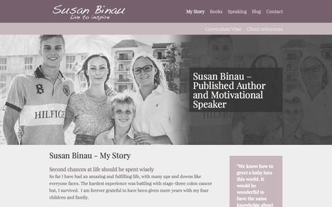 Screenshot of Home Page susanbinau.dk captured Sept. 21, 2015