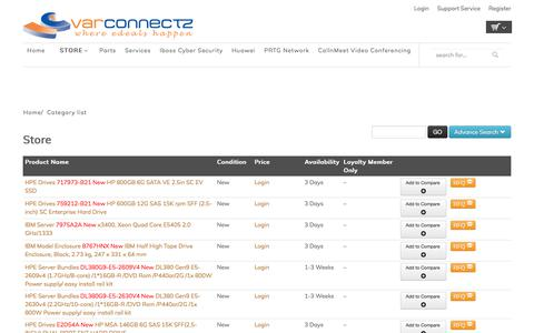 Screenshot of Products Page varconnectz.com - Shop & Buy Branded Computer & IT Products Online - captured Oct. 20, 2017