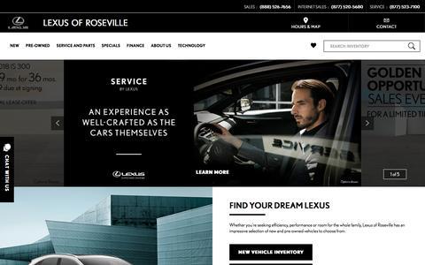 Screenshot of Home Page lexusofroseville.com - Lexus of Roseville | Sacramento Lexus  | Lexus cars Sacramento - captured July 18, 2018