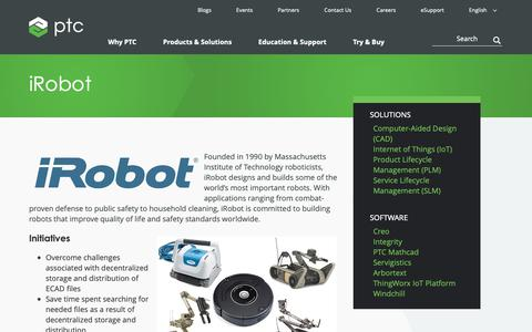 Screenshot of Case Studies Page ptc.com - iRobot Case Study | PTC - captured Nov. 13, 2018