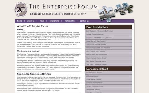 Screenshot of About Page enterprise-forum.co.uk - The Enterprise Forum - About Us - captured May 19, 2017