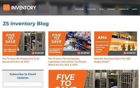 Screenshot of Blog z5inventory.com - Z5 Inventory - Blog - captured Oct. 22, 2018
