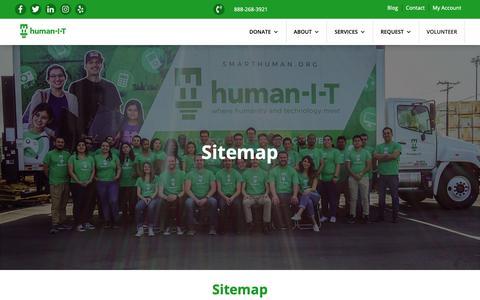 Screenshot of Site Map Page human-i-t.org - human-I-T | Sitemap - captured Nov. 5, 2018