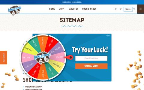 Screenshot of Site Map Page lennylarry.com - Official Lenny & Larry's Site - Sitemap - captured April 21, 2019