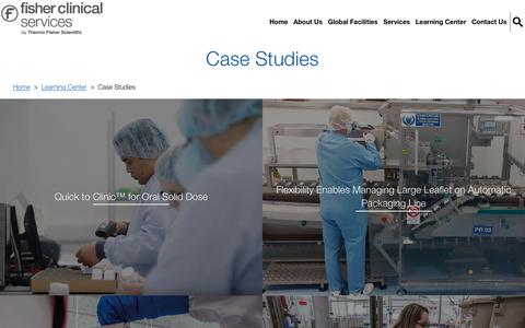 Screenshot of Case Studies Page fisherclinicalservices.com - Case Studies - captured Dec. 28, 2019