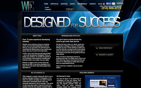 Screenshot of Home Page wbcwebdesign.com - Website Design, SEO Internet Marketing & Graphic Design for Print | WbC - captured Oct. 7, 2014