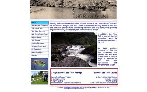Screenshot of Home Page teifiriverguides.co.uk - Teifi River Guides - captured Oct. 9, 2014