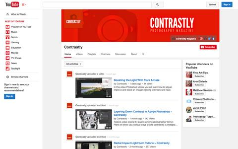Screenshot of YouTube Page youtube.com - Contrastly  - YouTube - captured Oct. 31, 2014