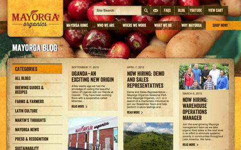 Screenshot of Blog mayorgaorganics.com - Blog - Mayorga Organics - captured Feb. 12, 2016