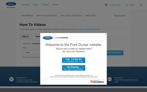 Ford How to Videos | Video Library for Your Vehicle | Official Ford Owner Site
