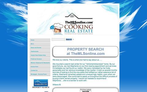 Screenshot of Home Page cookingrealestatemn.com - Cooking Real Estate, Your Real Estate Company for Eagan Homes for - captured Oct. 3, 2014