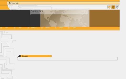 Screenshot of Services Page saffroninc.com - Services - captured Oct. 3, 2014