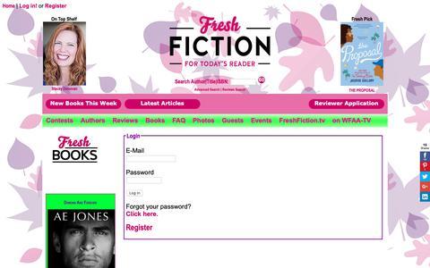 Screenshot of Login Page freshfiction.com - Login - captured Nov. 6, 2018