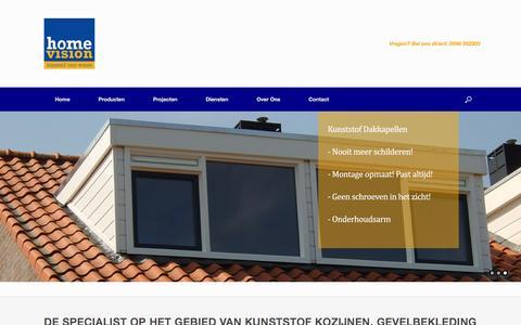 Screenshot of Home Page home-vision.nl - Kunststof Kozijnen - Home Vision - captured Jan. 30, 2016