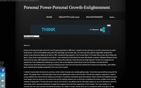 Screenshot of About Page Privacy Page jimisound.com - Reader information poll - Personal Power-Personal Growth-Enlightenment - captured Oct. 23, 2014
