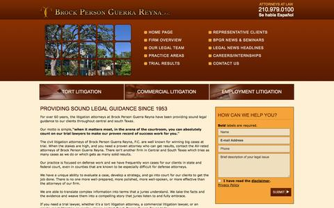 Screenshot of Home Page bpgrlaw.com - Home | Brock Person Guerra Reyna - A Professional Corporation | - captured Oct. 5, 2014