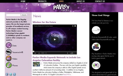 Screenshot of Press Page pavlovmedia.com - News   Pavlov Media - captured July 19, 2014