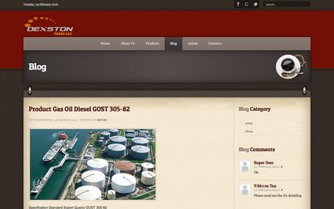 Screenshot of Blog dexston.com - Blog - captured Feb. 9, 2016