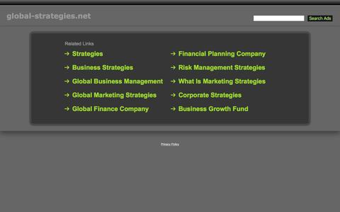 Screenshot of Home Page global-strategies.net - Global-Strategies.net - captured Nov. 8, 2016