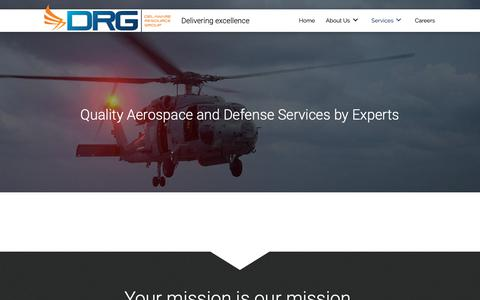 Screenshot of Services Page drgok.com - Services of Aerospace Company in Oklahoma City, OK - captured May 16, 2019