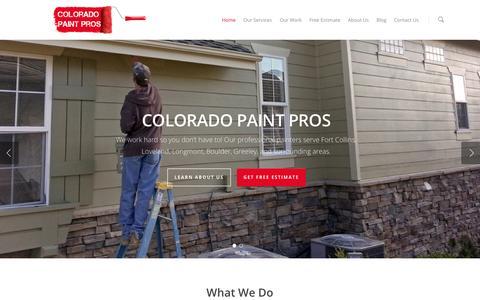 Screenshot of Home Page coloradopp.com - Homepage | Colorado Paint Pros - captured Oct. 3, 2014