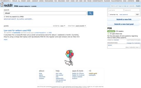 POS: search results - clover