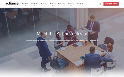 Screenshot of Team Page actiance.com - Leadership | Actiance® - captured June 27, 2018