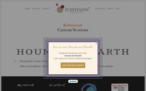 Screenshot of Pricing Page fuzzypantspets.com - Pricing - Fuzzypants Pet Photography - captured Oct. 11, 2018