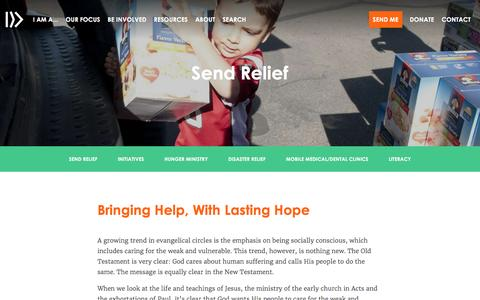 Send Relief: Disaster & Hunger Ministries |                         NAMB