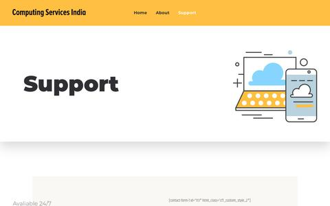 Screenshot of Support Page csiwebconnect.net - Fully Managed Web Hosting |   Support - captured Sept. 29, 2018