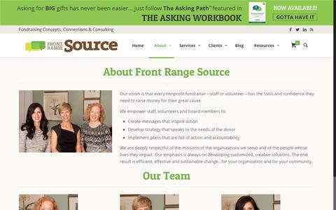 Screenshot of About Page frontrangesource.com - About Front Range Source | Front Range Source - captured Aug. 30, 2018