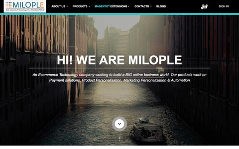 Screenshot of Home Page milople.com - Milople   The Ecommerce Technology Company - captured March 12, 2016