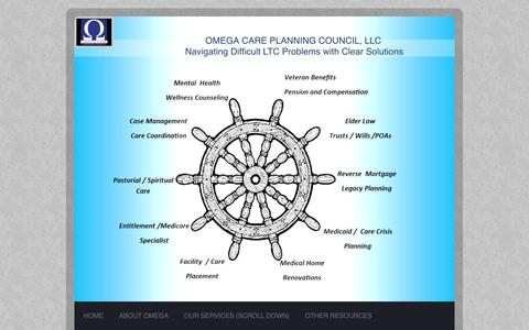 Screenshot of Contact Page omegaseniorcare.org - Omega Care Planning Council - Contact Us - captured Feb. 14, 2016