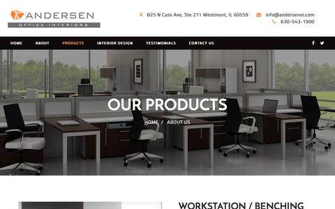 Screenshot of Products Page andersenoi.com - Products - andersen - captured Oct. 8, 2017